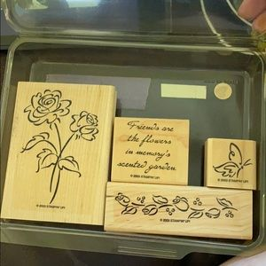 """2003 Stampin' Up! """"Scented Garden"""" 4 pc set"""